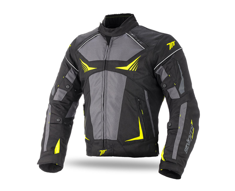 SEVENTY DEGREES SD-JR55 TEXTILJACKET FEKETE-NEON